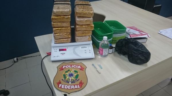 Droga apreendida na Delegacia de Polícia Federal de Ji-Paraná